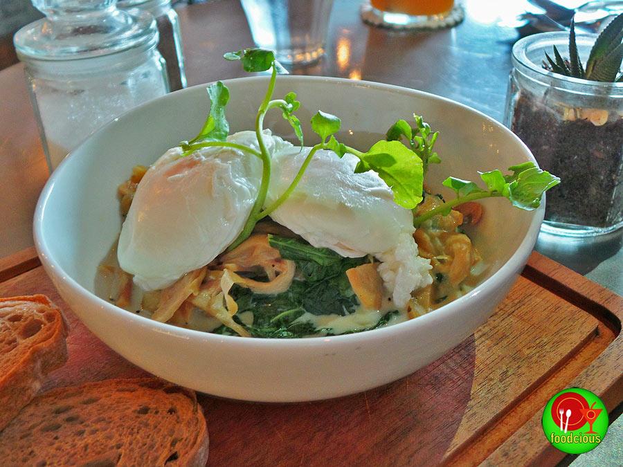 Creamy Spinach with Mushroom