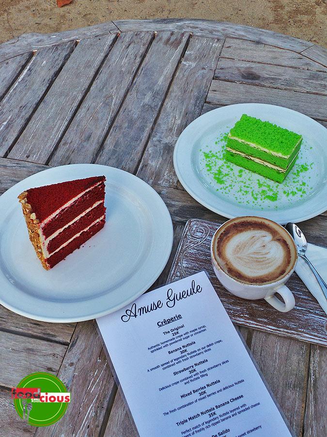 Red Velvet Cake & Pandan Velvet Cake