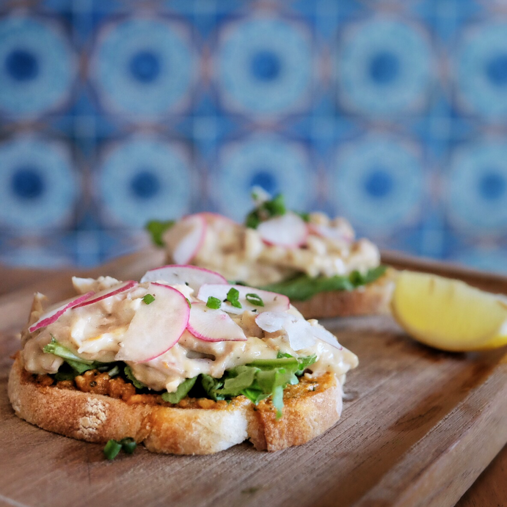 Organic Chicken Open Sandwich